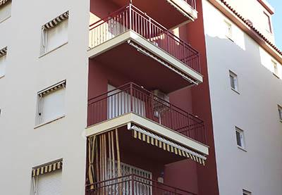 Rehabilitación de balcones y pintura